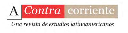 cover image for the A contracorriente: una revista de estudios latinoamericanos journal