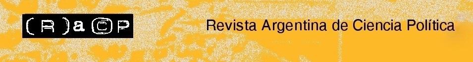 cover image for the Revista Argentina de Ciencia Política journal